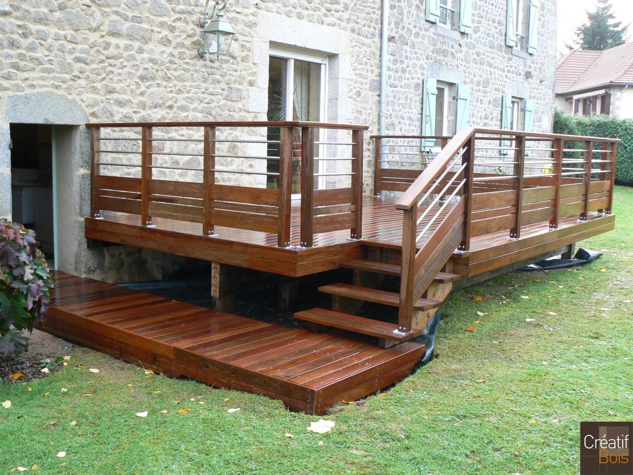 terrasse bois sainte feyre creuse 23 r alisation terrasses cr atif bois galerie cr atif. Black Bedroom Furniture Sets. Home Design Ideas