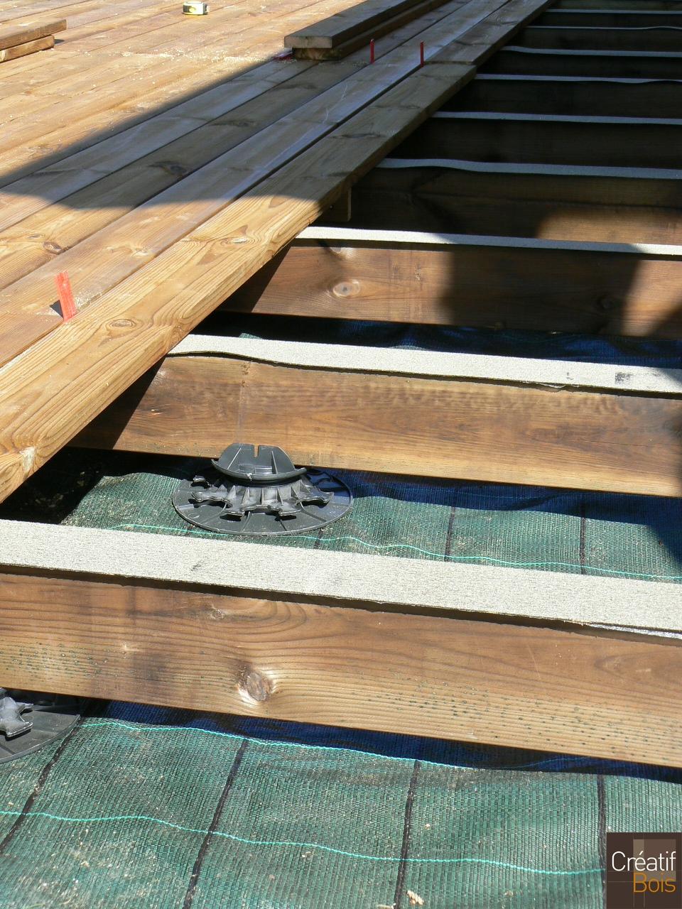 Terrasse bois en cours de construction couzeix haute for Construction bois 87