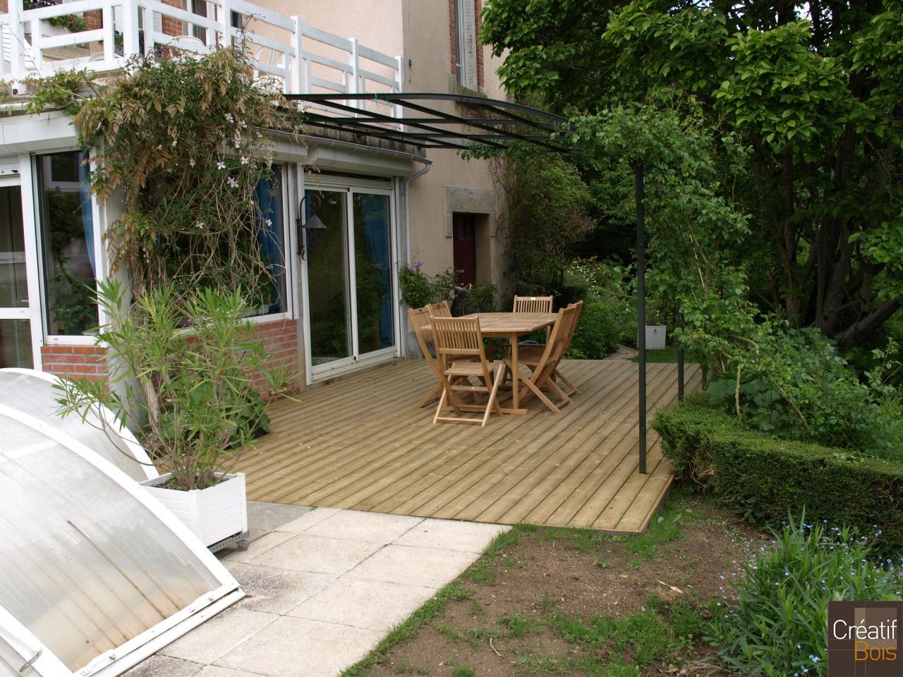 Terrasse bois saint yrieix sous aixe haute vienne 87 r alisations terrass - Geotextile sous terrasse bois ...