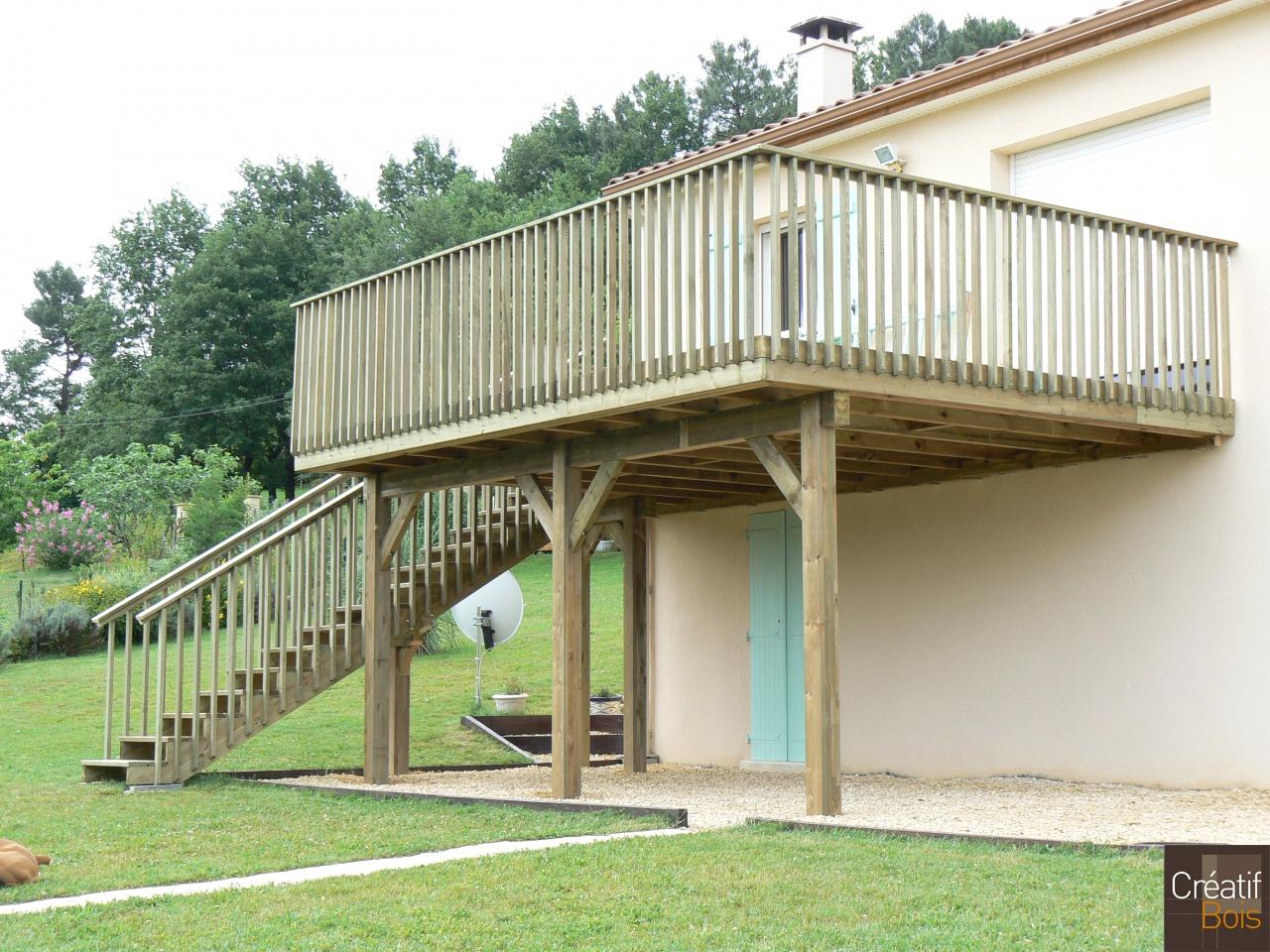 terrasse autoportante bois sarlat dordogne 24. Black Bedroom Furniture Sets. Home Design Ideas