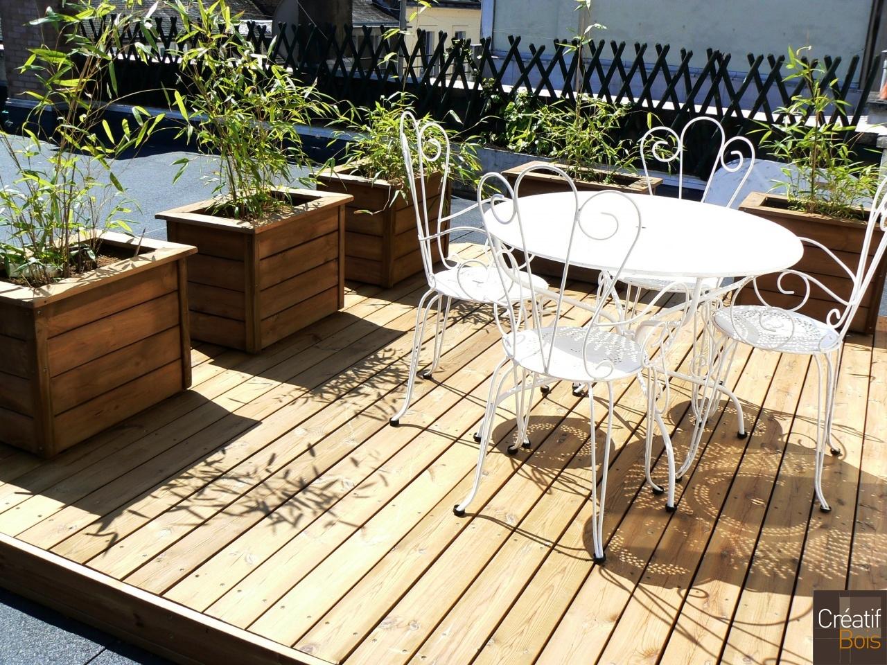 Terrasse Avec Bacs Plantes Corr Ze 19 Tulle Bac Plantes Galerie Cr Atif Bois