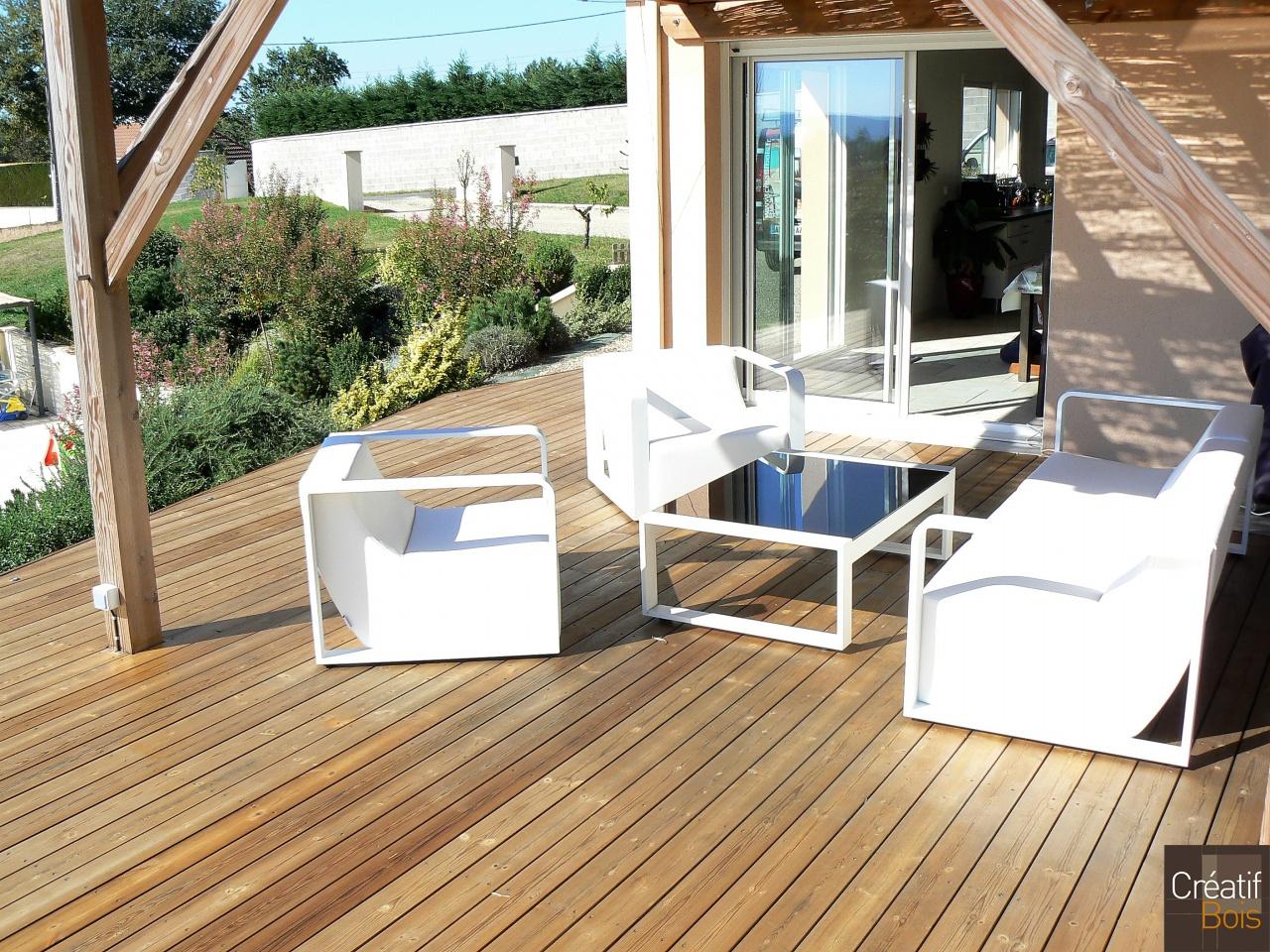terrasse en pin rouge du nord ussac corr ze 19. Black Bedroom Furniture Sets. Home Design Ideas