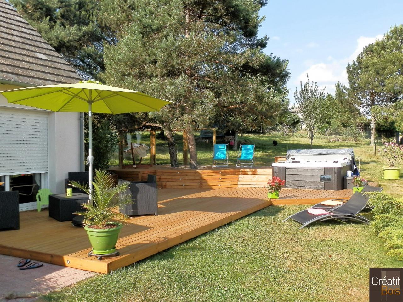 terrasse bois donzenac corr ze 19 r alisations. Black Bedroom Furniture Sets. Home Design Ideas