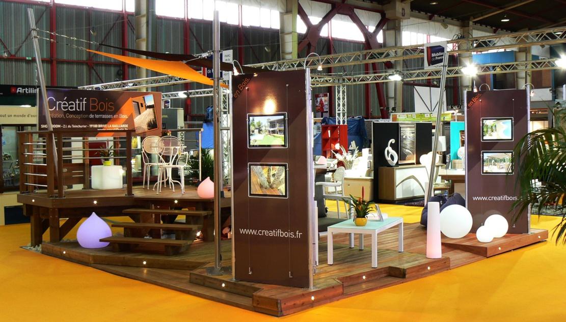 """Notre stand qui a reçu le """"Grand Prix"""" de la Foire de Limoges en 2014"""