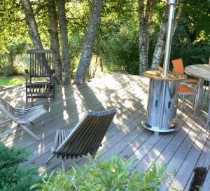 Terrasses en bois sur sol stable