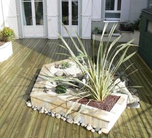 Terrasses en bois sur étanchéité