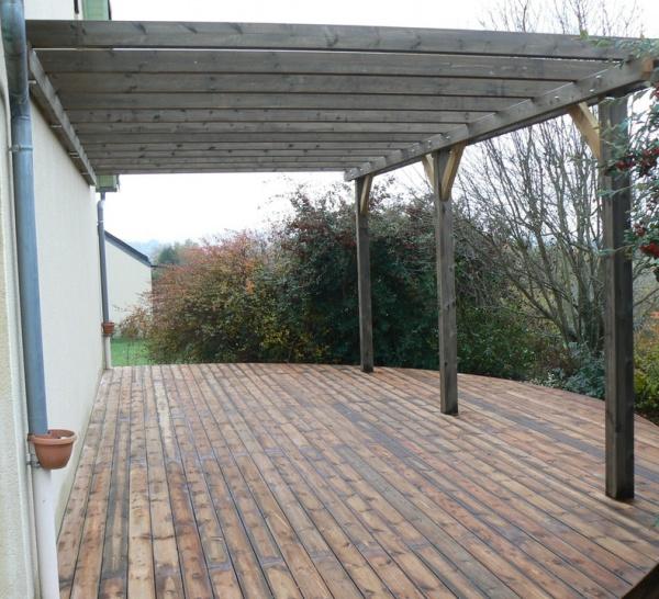 Terrasses en bois sur sol instable