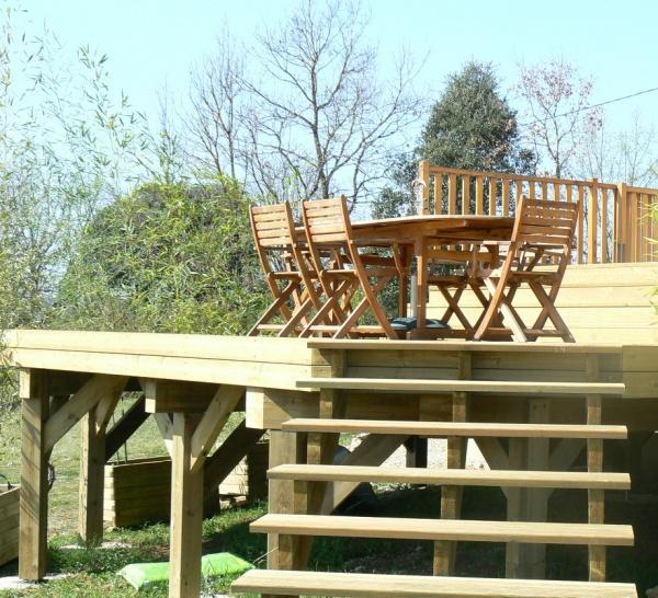 Terrasses en bois autoportantes