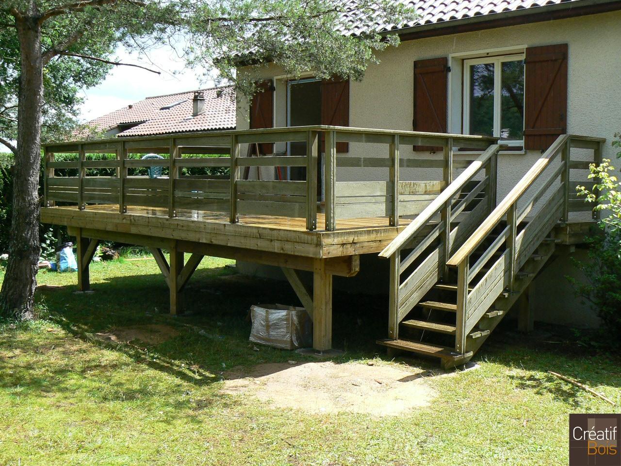 terrasse bois autoportante beaubreuil haute vienne 87 r alisations terrasses galerie. Black Bedroom Furniture Sets. Home Design Ideas