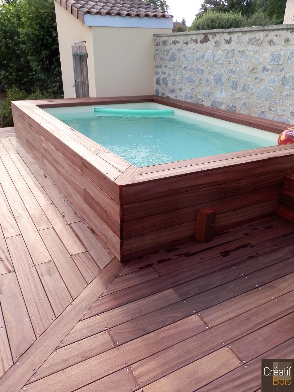 habillage bois piscine tubulaire. Black Bedroom Furniture Sets. Home Design Ideas